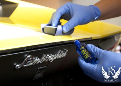 Lamborghini Aventador 50-RS Detailing, polerowanie, renowacja lakieru, ceramika, Gyeon Q2 Mohs Durabead, 7
