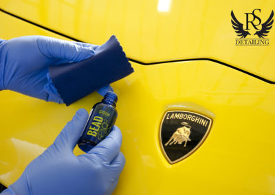 Lamborghini Aventador 50-RS Detailing, polerowanie, renowacja lakieru, ceramika, Gyeon Q2 Mohs Durabead, 8