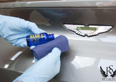 Aston Martin DB11-RS Detailing, powloka ceramiczna, ceramika, gyeonquartz, durabead, detailing warszawa,7